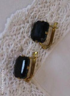 muy bellos pendientes en oro laminado y cristal - Comprar Pendientes Antiguos en todocoleccion - 213783356 Druzy Ring, Antiques, Rings, Jewelry, Antique Earrings, Black Glass, Antique Jewelry, Gold, Crystals