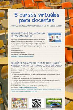 5 cursos virtuales para docentes
