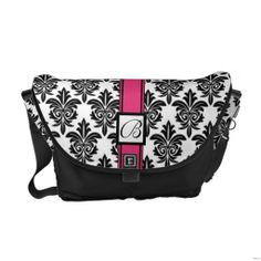 ==>Discount          	Black and White Damask Messenger Bag w/ Initial           	Black and White Damask Messenger Bag w/ Initial In our offer link above you will seeShopping          	Black and White Damask Messenger Bag w/ Initial Here a great deal...Cleck Hot Deals >>> http://www.zazzle.com/black_and_white_damask_messenger_bag_w_initial-210037812207250195?rf=238627982471231924&zbar=1&tc=terrest