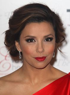 40739 eva longoria highlights updo romantic brunette Dos and Don'ts: Hairstyles for a Round Face