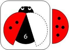 Fun Learning Printables for Kids: Have the children count the dots on the wing. Have them identify the number on the ladybug. Then have them find the wing with the appropriate number of dots on wing to make the sum on the ladybug. Farm Animals Preschool, Preschool Math, Math Classroom, Kindergarten Worksheets, Kids Learning Activities, Fun Learning, Montessori Math, Math Games, Kids Education