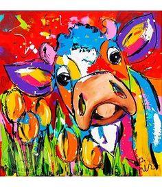 """Vrolijk Schilderij 60 x 60 cm schilderij """"Joanne"""""""
