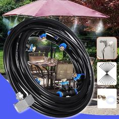 This system works very effectively in both low and high levels of humidity! Backyard Gazebo, Backyard Patio Designs, Backyard Projects, Front Yard Landscaping, Outdoor Projects, Backyard Ideas, Garden Ideas, Patio Ideas, Garden Projects