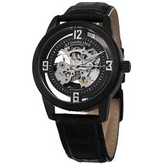 Stuhrling Original Men's Automatic Winchester Skeleton Leather Strap Watch. Get this very modern looking watch for someone special this holiday season! http://www.overstock.com/10561270/product.html?CID=245307
