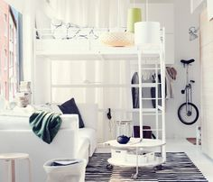 """""""BIG LIVING, SMALL SPACE  The smaller the space, the bigger the ideas  When your bedroom and living room share the same space, a few smart ideas are all it takes to make room for everything you need (and even the things you really, really want). $169"""""""