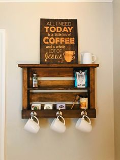 Penn Rustics - Wood Coat Rack with Shelf | Entryway Organizer | Towel Robe Rack | Key Hooks Wall Mounted Mail Catch All Leash Holder | Coffee Station Bar #coffee #coffeebar #coffeestation #coatrack #modernfarmhouse #pennrustics www.pennrustics.com