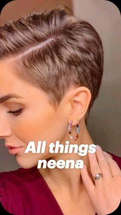 All things neena Short Grey Hair neena Short Grey Hair, Short Hair Older Women, Very Short Hair, Short Hair With Layers, Hair Color For Black Hair, Dark Hair, Short Hair Over 60, Straight Hair, Long Hair