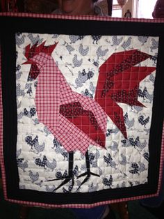 Paper Pieced Rooster Mini Quilt