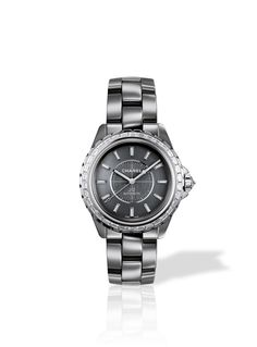 I absolutely love the J Douze!    J12 CHROMATIC 38 mm - Chanel Watch in titanium ceramic set with baguette diamonds