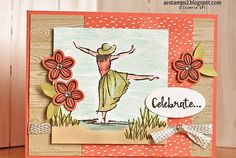 Beauty Dancing Girl Metal Cutting Die Stencil Embossing Scrapbook Card DIY Craft beautiful you Stampin Up Anleitung, Stampin Up Karten, Stamping Up Cards, Kirigami, Paper Cards, Scrapbook Cards, Scrapbook Titles, Scrapbooking Layouts, Homemade Cards