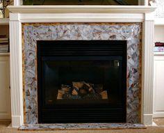 Enchanting                           #mosaic #fireplace