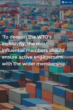 The WTO is in a pivitol moment in its history, being the driver of global trade ambitions. What have WTO done well to get this far?