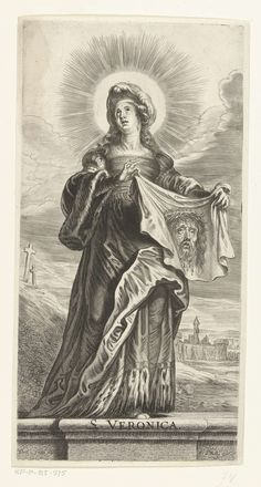 Heilige Veronica met zweetdoek (sudarium), Pieter de Bailliu (I), 1623 - 1660 Virgin Mary Painting, Turin Shroud, St Veronica, Archangel Tattoo, Bible Tattoos, Catholic Pictures, Tattoo Themes, Architectural Prints, Mary And Jesus