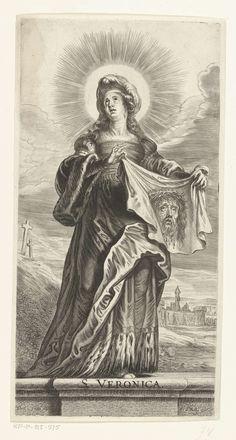 Heilige Veronica met zweetdoek (sudarium), Pieter de Bailliu (I), 1623 - 1660