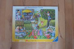 """Puzzle """"Unser Garten"""", 1995 von HelloPolly auf DaWanda.com"""