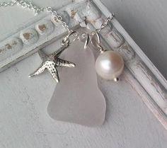 Another gorgeous piece of sea glass jewelry #nautical #jewelry