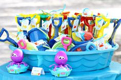 Summer party time!  Great favors for a clam bake!