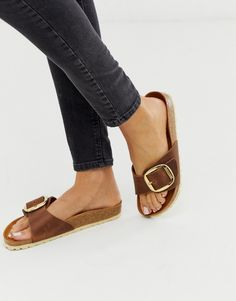 Buy Birkenstock Madrid Big Buckle flat sandals in tan at ASOS. With free delivery and return options (Ts&Cs apply), online shopping has never been so easy. Get the latest trends with ASOS now. Ankle Boots, Ankle Strap Heels, Ankle Straps, Shoe Boots, Tokyo Street Fashion, Flat Sandals, Leather Sandals, Flats, Strap Sandals