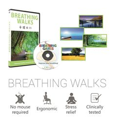 Move through environment with breathing to make breathing exercises more relaxing. This is especially recommended for people with breathing related (asthma, emphysema, COPD) and stress related (anxiety, blood pressure) disorders. In general, medical doctors encourage people to perform Pursed Lip Breathing in order to get more oxygen, to gain more energy or to relax.