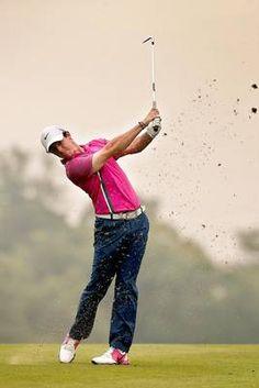 Rory McIroy at the Sheshan International Golf Club in Shanghai, China