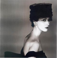"Dorothy ""Dovima"" Juba. American model. 1950's. Dovima was almost eerily beautiful- high cheekbones, perfectly set eyes, and a Grecian nose that was to become the muse for both Penn and legendary photographer Richard Avedon throughout the 1950s and 60s."