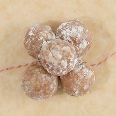 Bourbon Balls Recipe Desserts with vanilla wafers, ground pecans, confectioners sugar, karo, bourbon whiskey