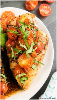 Bruschetta Chicken Recipe (Baked, Grilled or Stovetop)