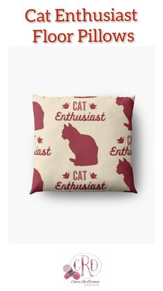 South African Decor, South African Artists, Gifts For Teens, Gifts For Father, Cat Lover Gifts, Cat Lovers, Dorm Room Accessories, Floor Pillows, Throw Pillows
