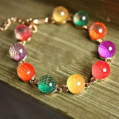 mix color 2017 New Women Jewelry Fashion Candy Color Diy Bracelet Sweet Love Crystal Beads Bracelets & Bangles