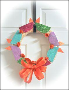 #DIY #Diwali wreath with my kid...turned out pretty good.