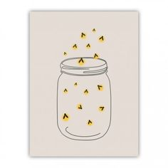 FIREFLIES Wood Print