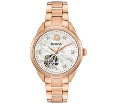 Fabulous and functional. This women's stainless steel bracelet watch features diamond accents and a beautifully versatile design. From Bulova. QVC.com $371