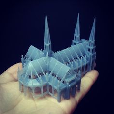Architectural model printed on a Formlabs printer #formlabs #architecture…