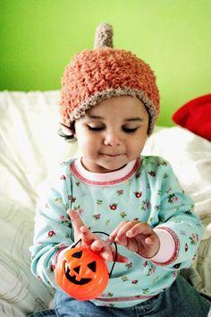 2T to 4T Pumpkin Hat Kids Crochet Halloween Hat  Brown by BabaMoon, $26.00