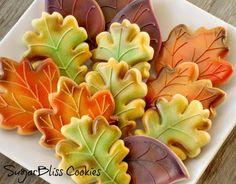 SugarBliss Cookies: SugarBliss Fall Leaves