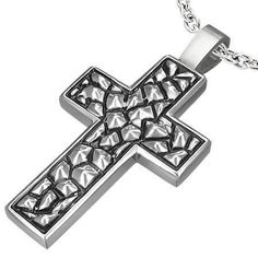 Traditional Oxygenated Cross Necklace for Men or Women