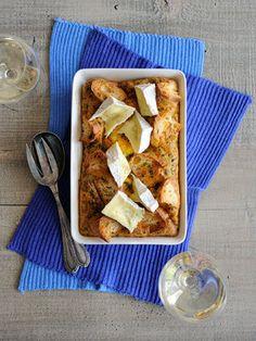 【ELLE a table】バゲットキッシュ カマンベールチーズのせレシピ エル・オンライン