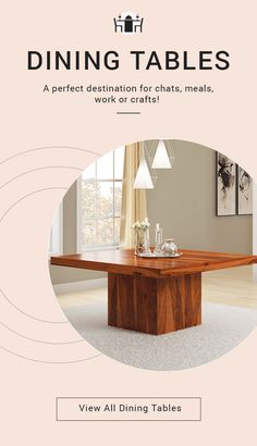 A perfect destination for chats, meals, work or crafts! #diningroom #interiordesign #homedecor #interior #livingroom #diningroomdecor #diningtable #furniture #home #design #decor #kitchen #bedroom #homedesign #interiors #diningroominspo #livingroomdecor #furnituredesign #interiordesigner #diningroomdesign #dining #decoration #kitchendesign #table #interiorstyling #customfurniture #largetable #solidwood #roundtable #round #liveedge #diningroomdecor Hardwood Table, Solid Wood Dining Table, Dining Room Table, Live Edge Furniture, Solid Wood Furniture, Custom Furniture, Interior Livingroom, Acacia Wood, Dining Room Design