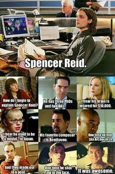 Spencer Reid! Haha Lassie!