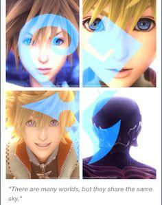 Sora, Roxas, Ventus, Vanitas. Kingdom Hearts.