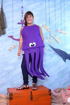 Rainbow fish halloween costume poster board cupcake for Puffer fish costume