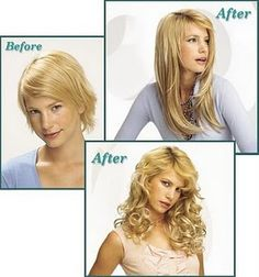 Totally different feeling between before after wear clip in totally different feeling between before after wear clip in hair extensions get different style everyday and good mood everyday hair pinterest pmusecretfo Images