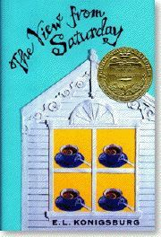 The 1997 Newbery Medal winner is The View from Saturday by E. L. Konigsburg (Jean Karl/Atheneum).