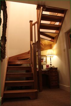 Clocktower Staircase Timber Stair, Banisters, Spiral Staircase, Glass Panels, New Homes, Stairs, Study, Bed, Farm House