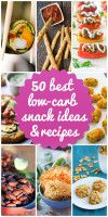 LOTS if low-carb snack recipes--salty & sweet