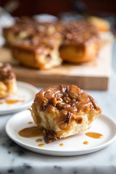 Pecan Sticky Buns With Orange And Bourbon Glaze Recipe — Dishmaps
