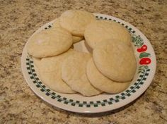 Fluffy Eggless Sugar Cookies. I put in 1/2 tsp of almond extract too. Amazing!!!!!