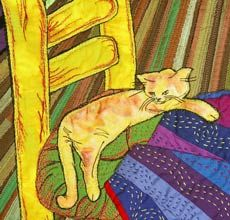 Vincent van Gogh. love all the contrasting patterns too #cat #CatArt