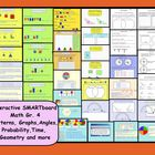 This is a Smart Notebook 11 file.  There are 36 interactive math pages in this file. Pg 1 - 5 Identifying and extending patterns.  Students will dr...
