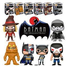 Funko POP! Batman: The Animated Series (6 POPs - #191, #192, #193, #194, #195, #198). New, Mint. #FunkoPop #Batman #Collectibles